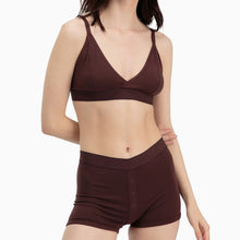 Shop The Woods Richer Poorer most comfortable lingerie intimates cotton femme womens boxer briefs underwear panties panty shorts java brown burgundy wine