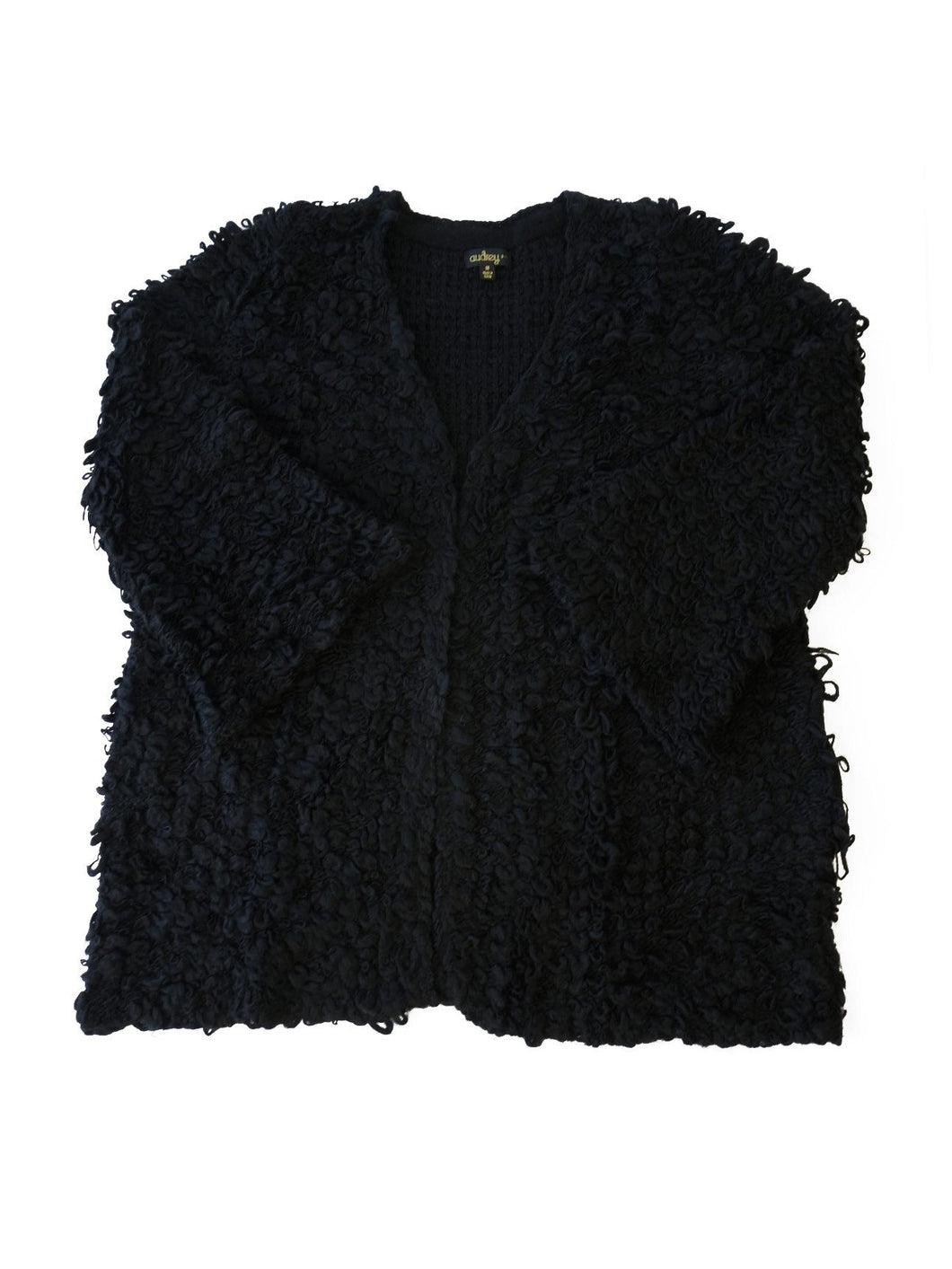 Furry Open Cardigan Sweater