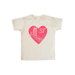 Kira Kids natural white cream heart sf tee t-shirt baby babies audrey and olive maternity clothes shop the woods san francisco