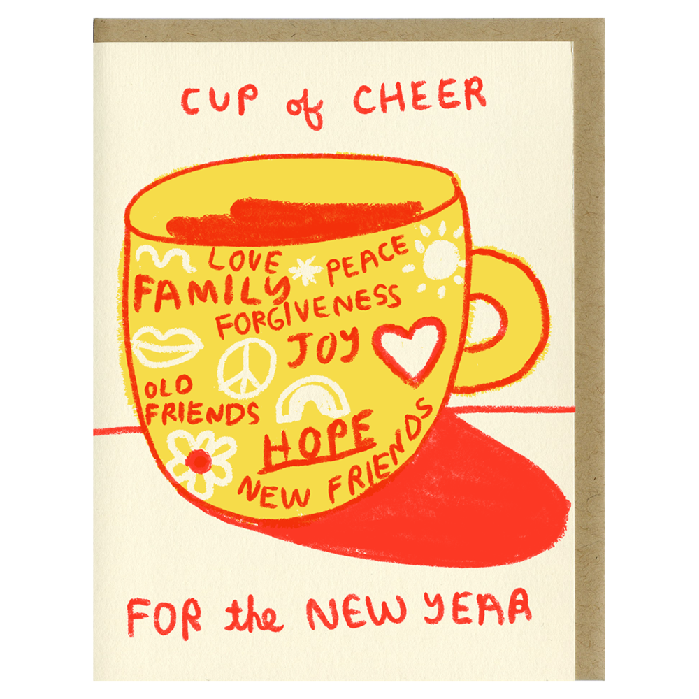 Cup of Cheer for a New Year greeting card