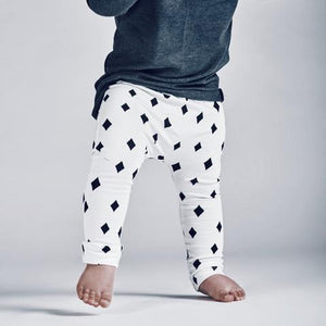 baby kids girls boys stretch black and white diamond pants leggings audrey and olive shop the woods sf dudes-n-dolls