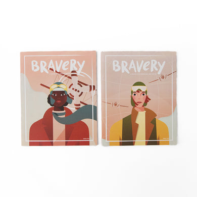 The Woods Bravery Magazine feminist stories for girls boys children's issue give Bessie Coleman Amelia Earhart