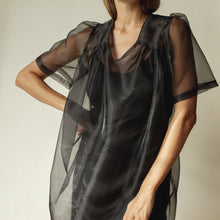 The Woods et tigre rolf dress organza black sheer see through sustainable ethical