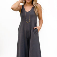 The Woods Mien Studios lakeside jumpsuit romper maternity zinc grey