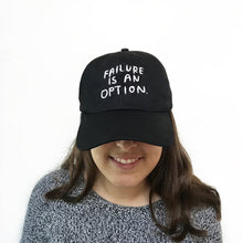 The Woods People I've Loved stationery canvas baseball hat cap black Failure Is an Option