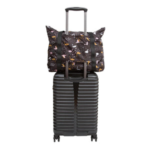 The Woods Kaleido Concepts travel packing packable luggage large tote bag black swans pink breeze navy tidal midnight muse slate graden