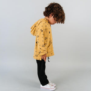 Kira kids mustard yellow taco hoodie sweatshirt baby babies audrey and olive maternity clothes shop the woods san francisco