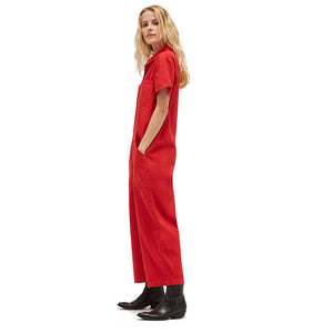 The Woods Lacausa Lucky Jumpsuit Romper boilersuit workwear mustang red