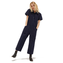 The Woods Lacausa Lucky Jumpsuit Romper boilersuit workwear velvet blue navy