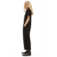 The Woods Lacausa Lucky Jumpsuit Romper boilersuit workwear black tar