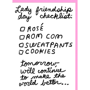 People I've Loved lady friendship day checklist print gift stationery greeting card audrey and olive maternity clothes shop the woods san francisco