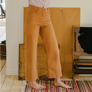 The Woods Loup Toni Jeans pants high waisted wide leg tan khaki perfect butt