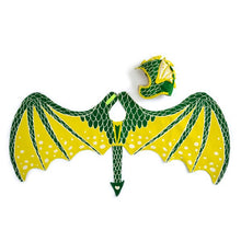 The Woods Lovelane Designs kids childrens costume dragon wings green yellow