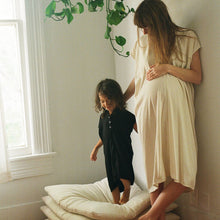 shop the woods miranda bennett everyday dress silk noil cotton linen natural ethical fashion kids zero waste childrens girls baby toddler black