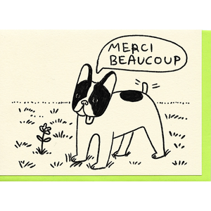 People I've Loved merci beaucoup thank you boston terrier french bulldog print gift stationery greeting card audrey and olive maternity clothes shop the woods san francisco