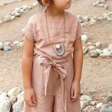 The Woods Hey Moon clay polymer wood leather jewelry necklace Callisto granite kids girls children matching mama mini