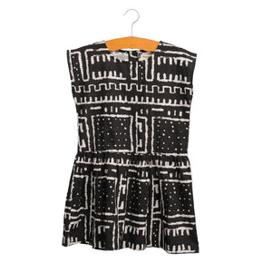 shop the woods wander and wonder black white ode tribal print dress africa girls