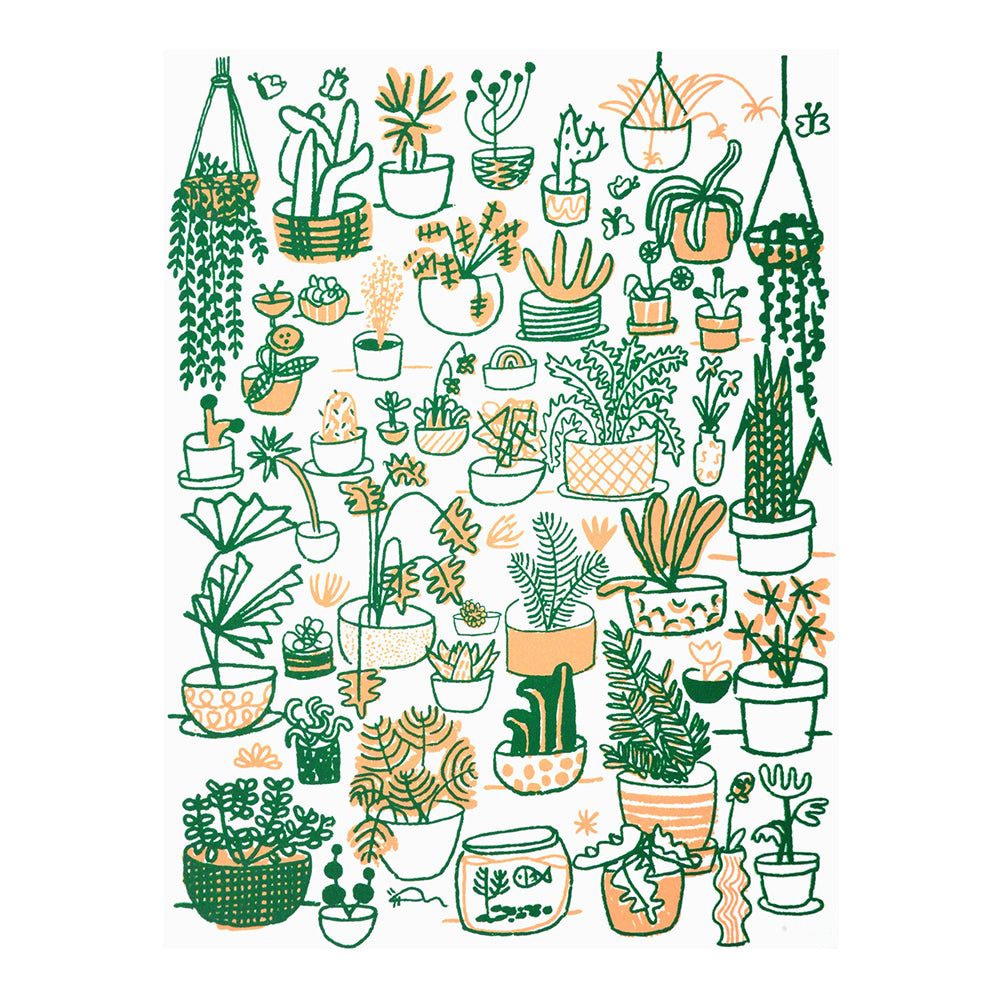 Shop The Woods People I've Loved Oakland printmaker Plant Family print woman maker