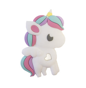 shop the woods loulou lollipop silicone teether rainbow unicorn baby