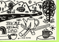 Shop The Woods People I've Loved Oakland printmaker print You're Wild Dad Fathers Day greeting card woman maker