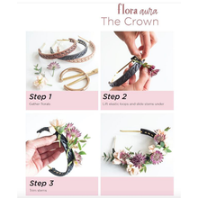 The Woods Flora Aura Designs flower crown reusable leather headband