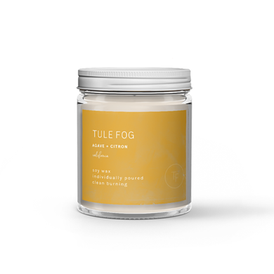 The Woods Tule Fog natural soy wax candles non-toxic agave citron
