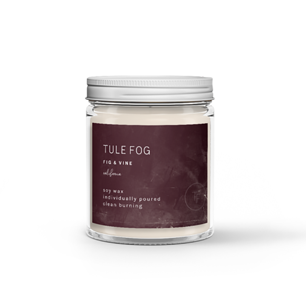 The Woods Tule Fog natural soy wax candles non-toxic fig vine