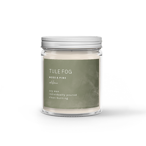 The Woods Tule Fog natural soy wax candles non-toxic moss pine