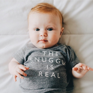 SHOP THE WOODS  CHEERILY.CO CHEERILY BABY KIDS SNUGGLE IS REAL T-SHIRT TEE