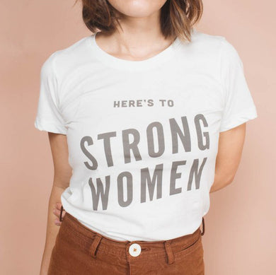 The Woods The Bee and the Fox Here's to Strong women tee t-shirt