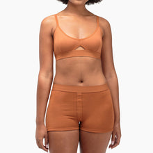 Shop The Woods Richer Poorer most comfortable classic cutout bralette bra lingerie intimates cotton racerback adjustable tobacco brown orange