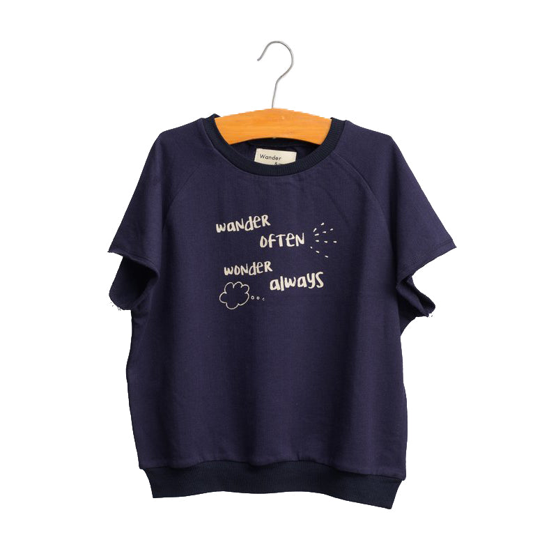 shop the woods wander and wonder navy blue sweatshirt crew print africa girls boys