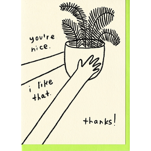 People I've Loved you're nice i like that thanks gift stationery greeting card audrey and olive maternity clothes shop the woods san francisco