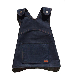 Yolotli raw selvedge denim apron smock blue baby babies audrey and olive maternity clothes shop the woods san francisco