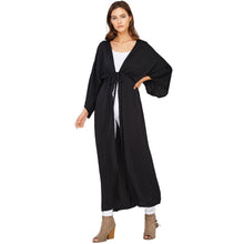 Audrey and Olive maternity aylen kaftan kimono open cardigan black