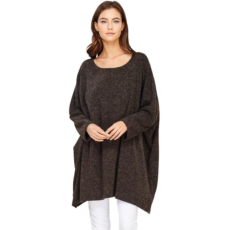 shop the woods Audrey and Olive maternity Jessie oversized sweater charcoal grey