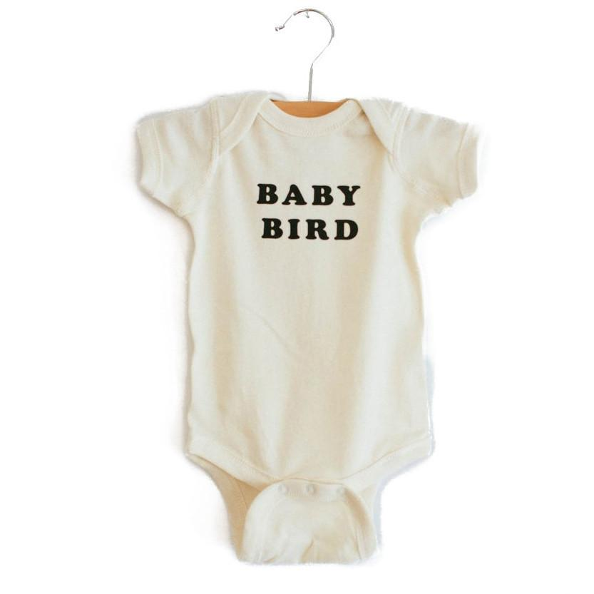 The Bee and the Fox baby bird onesie Audrey and Olive 3+1 maternity clothes