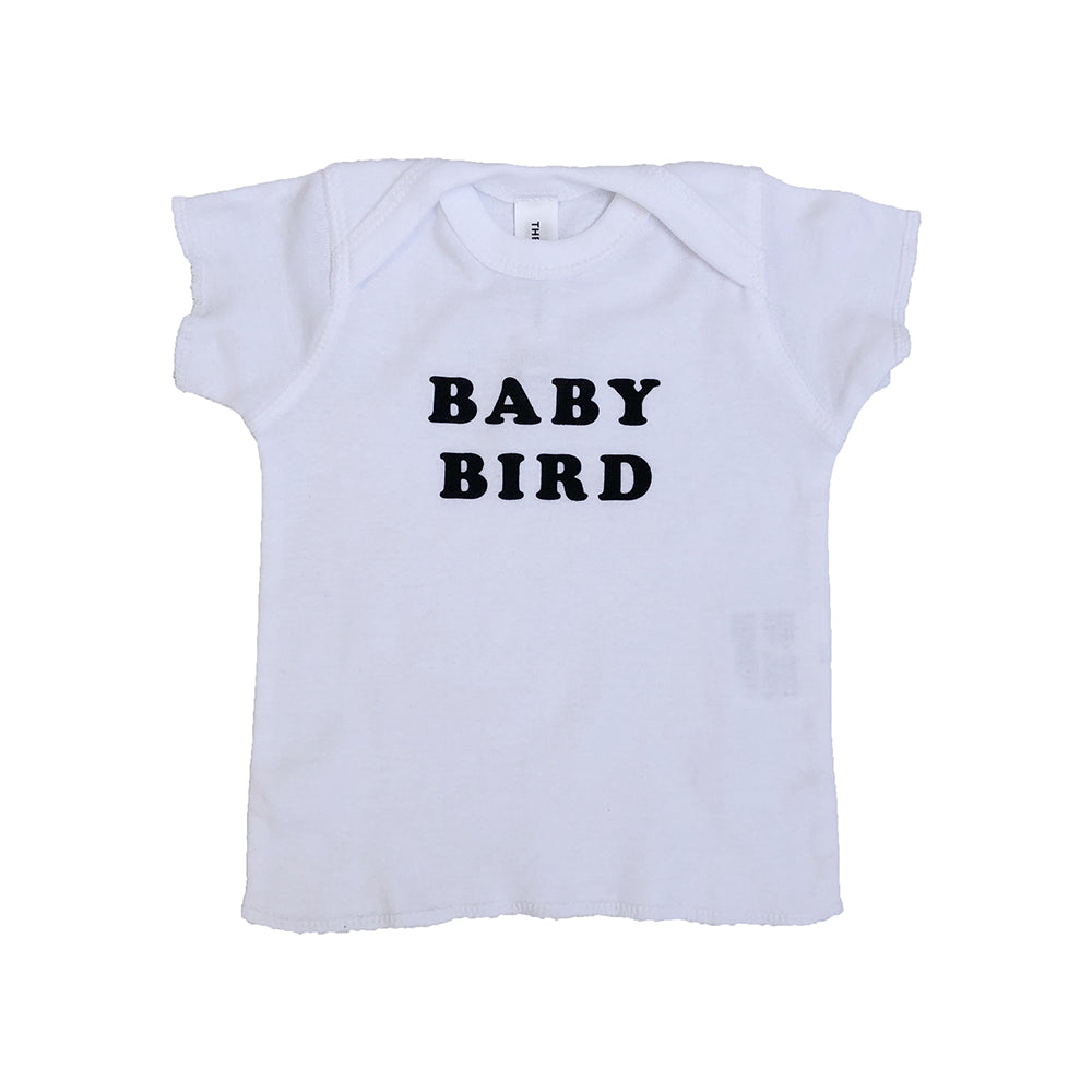 Shop The Woods Bee and the Box baby bird mama t-shirt tee shirt white black