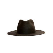 The Woods Kin The Label Beca wool packable foldable hat fedora panama grey brown