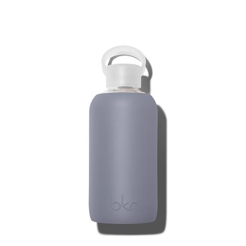 The Woods bkr glass silicone reusable water bottle  500ml 16oz 1l 32oz spiked cloud grey