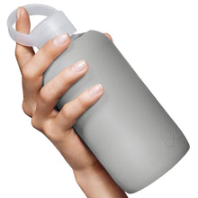 The Woods bkr glass silicone reusable water bottle  500ml 16oz cloud grey