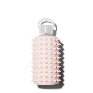 The Woods bkr glass silicone reusable water bottle  500ml 16oz 1l 32oz spiked tutu millennial pink