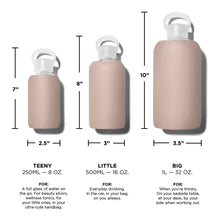 The Woods bkr glass silicone reusable water bottle  500ml 16oz 1l 32oz spiked nake pink beige