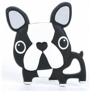 Loulou Lollipop silicone teether black boston terrier french bulldog frenchie baby babies audrey and olive maternity clothes shop the woods san francisco