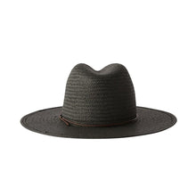 The Woods Kin the Label packable straw panama fedora hat Brooke black woven