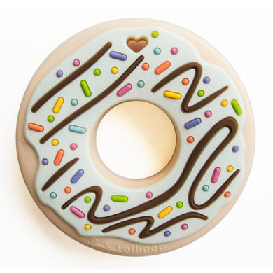 Loulou Lollipop silicone teether donut doughnut sprinkles mint baby babies audrey and olive maternity clothes shop the woods san francisco