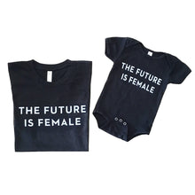 The Woods Otherwild The Future Is Female kids childrens t-shirt tee black white feminist