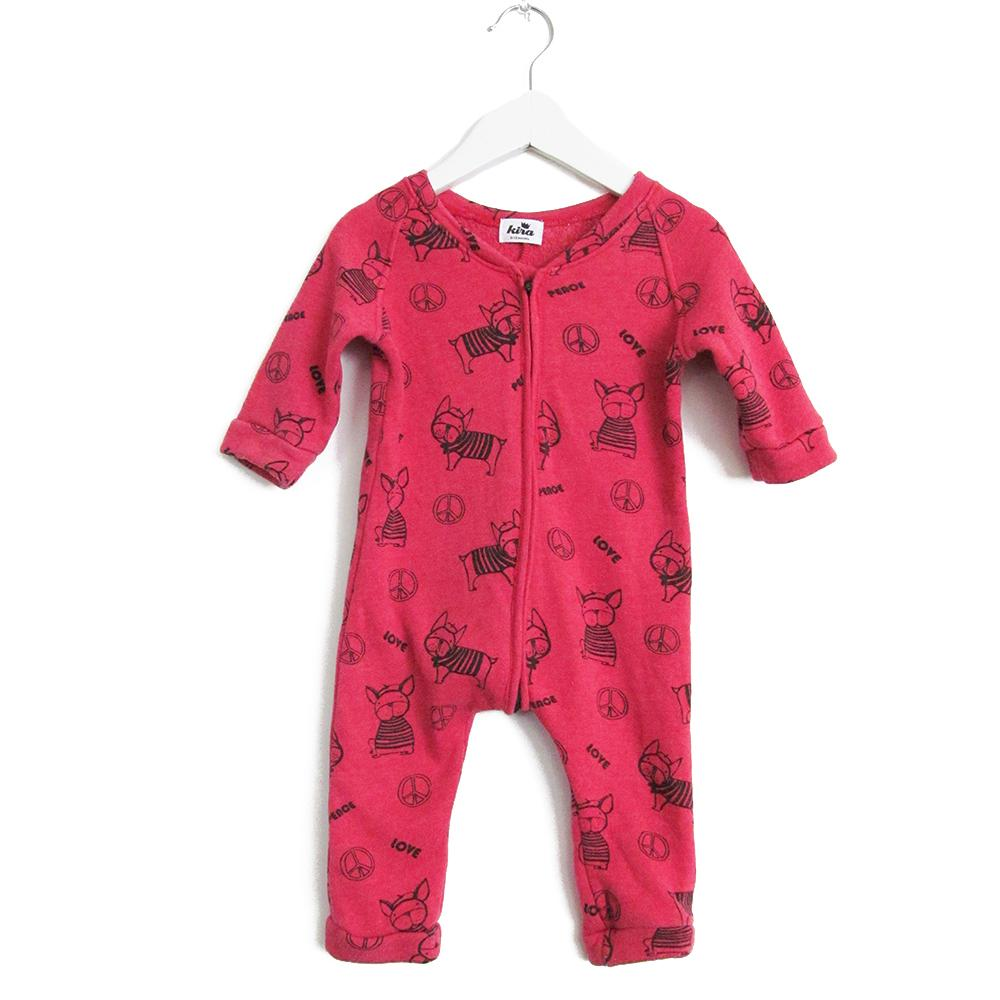 Kira kids frenchie frenchy dog red sweatshirt romper baby babies audrey and olive maternity clothes shop the woods san francisco