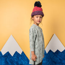 shop the woods kids girls baby wander and wonder hana dress sweatshirt aqua light blue cat kitty audrey and olive