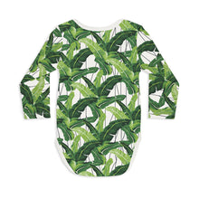 Shop The Woods Sleep No More organic GOTS baby onesie romper bodysuit long sleeve modern print palm fronds leaves i need a vacation you white greenShop The Woods Sleep No More organic GOTS baby onesie romper bodysuit long sleeve modern print cactus potted pots can't touch this white green unisex gender neutral